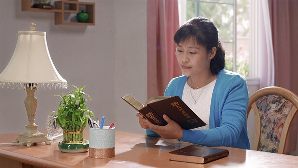 A Christian is reading God's words.